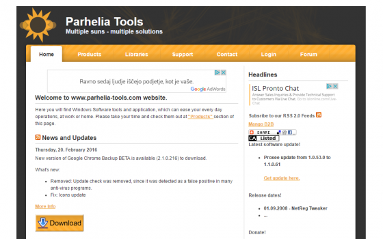 Pathelia Tools Website