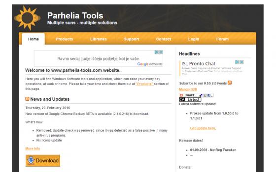 Pathelia Tools Website