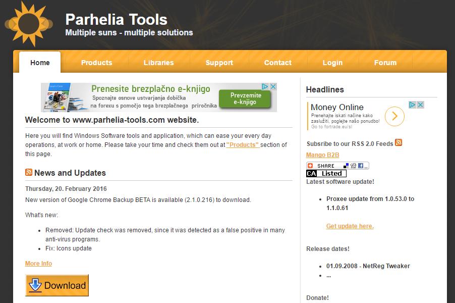 Parhelia Tools home page.