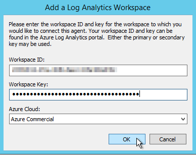 Connect Microsoft Monitoring Agent with OMS Workspace