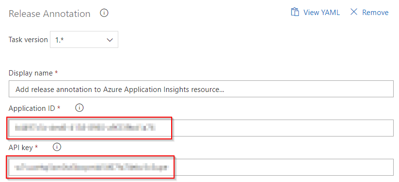 Enter Application ID and API key you generated on Azure portal to the appropriate fields.