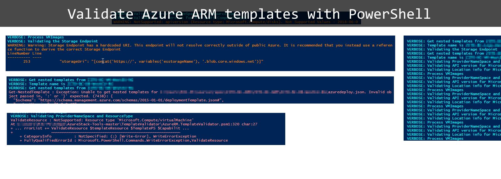 Validate Azure ARM templates with PowerShell – Miha Jakovac