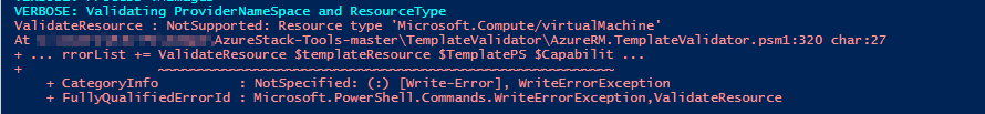 Misspelled Azure resource type error.