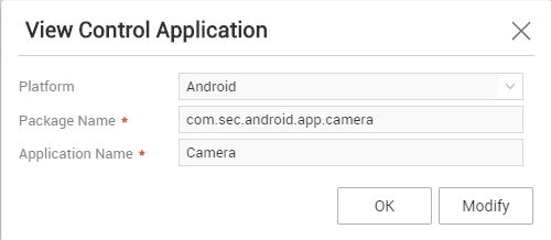 Create a control application for Camera.